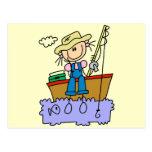 Figura camisetas y regalos del palillo de la pesca tarjetas postales