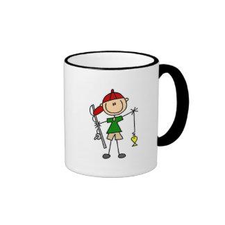 Figura camisetas y regalos del palillo de la pesca tazas de café