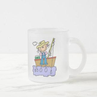 Figura camisetas y regalos del palillo de la pesca taza de cristal