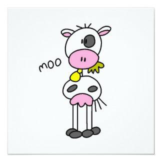 Figura camisetas y regalos del palillo de la vaca comunicados personales