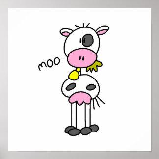 Figura camisetas y regalos del palillo de la vaca impresiones