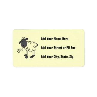 Figura camisetas y regalos del palillo de las etiqueta de dirección