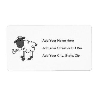 Figura camisetas y regalos del palillo de las etiqueta de envío