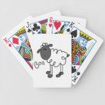 Figura camisetas y regalos del palillo de las ovej cartas de juego