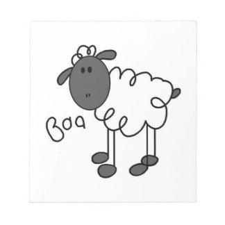 Figura camisetas y regalos del palillo de las ovej bloc de papel