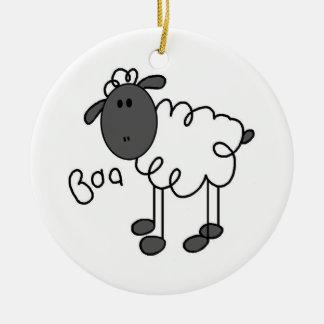 Figura camisetas y regalos del palillo de las ovej adorno de navidad