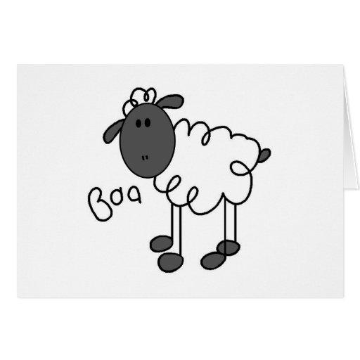 Figura camisetas y regalos del palillo de las ovej tarjeta