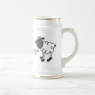 Figura camisetas y regalos del palillo de las ovej jarra de cerveza