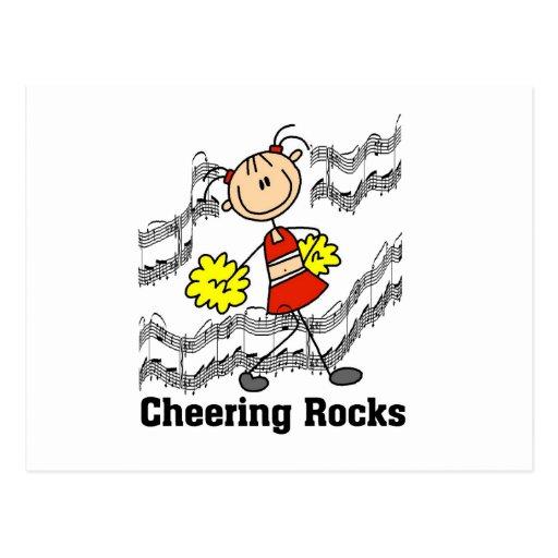 Figura camisetas y regalos del palillo de las roca tarjetas postales