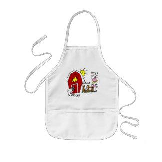 Figura camisetas y regalos del palillo de los anim delantal infantil