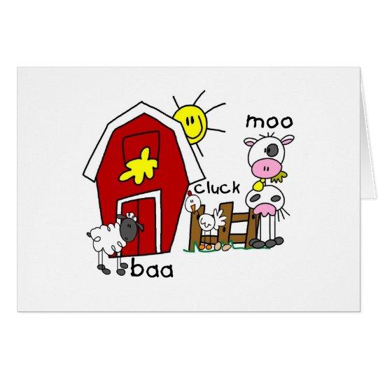 Figura camisetas y regalos del palillo de los anim tarjeta de felicitación