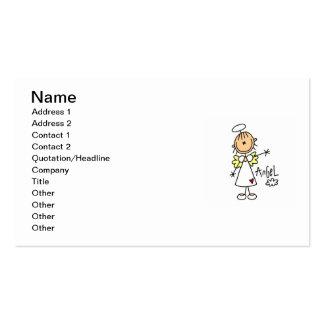 Figura camisetas y regalos del palillo del ángel plantilla de tarjeta de visita