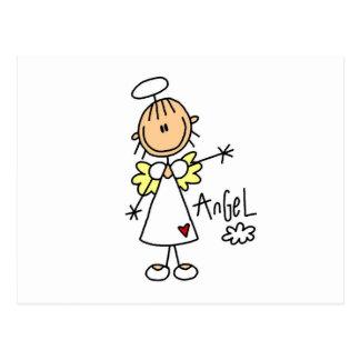Figura camisetas y regalos del palillo del ángel postales