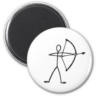 Figura camisetas y regalos del palillo del archer iman de frigorífico