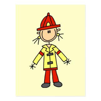 Figura camisetas y regalos del palillo del bombero postales