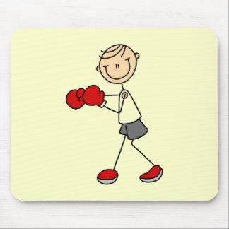 Figura camisetas y regalos del palillo del boxeo tapetes de ratón