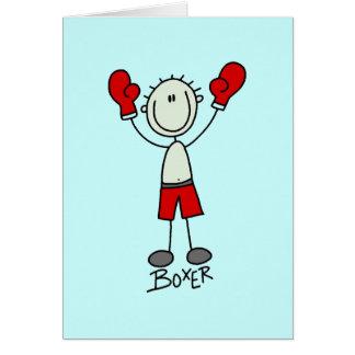 Figura camisetas y regalos del palillo del boxeo tarjeta de felicitación