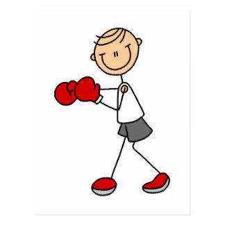 Figura camisetas y regalos del palillo del boxeo postales