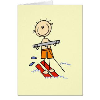 Figura camisetas y regalos del palillo del esquí a tarjeta de felicitación