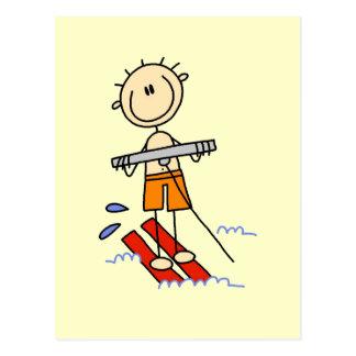 Figura camisetas y regalos del palillo del esquí postal