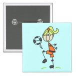 Figura camisetas y regalos del palillo del fútbol pin