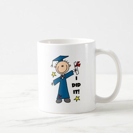 Figura camisetas y regalos del palillo del graduad taza de café
