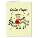 Figura camisetas y regalos del palillo del guitarr tarjetas