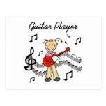 Figura camisetas y regalos del palillo del guitarr tarjetas postales
