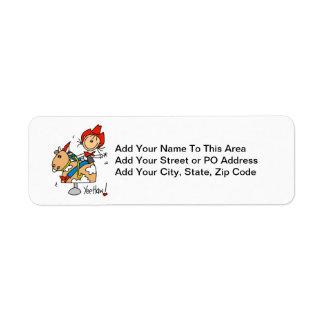 Figura camisetas y regalos del palillo del Haw de Etiquetas De Remite