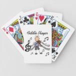 Figura camisetas y regalos del palillo del jugador cartas de juego