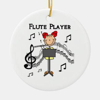 Figura camisetas y regalos del palillo del jugador ornamento para arbol de navidad