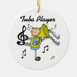 Figura camisetas y regalos del palillo del jugador ornamentos de navidad