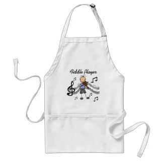 Figura camisetas y regalos del palillo del jugador delantal