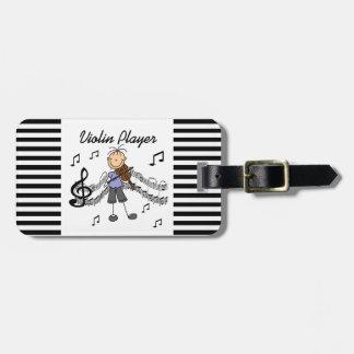 Figura camisetas y regalos del palillo del jugador etiqueta de equipaje