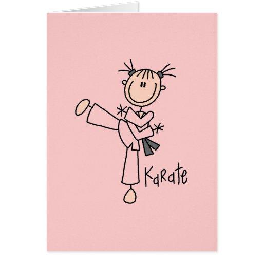 Figura camisetas y regalos del palillo del karate  felicitacion