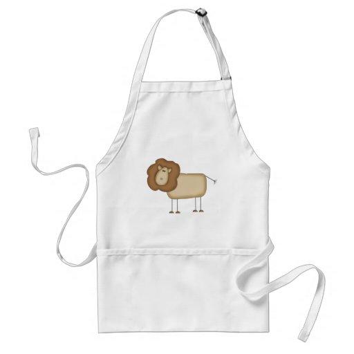Figura camisetas y regalos del palillo del león delantales