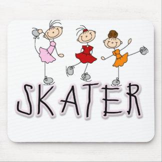 Figura camisetas y regalos del palillo del patinad alfombrilla de raton