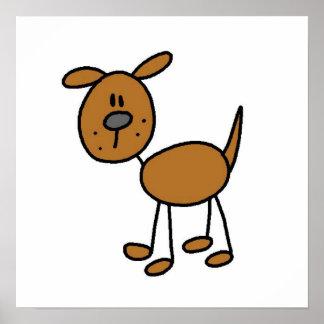 Figura camisetas y regalos del palillo del perro poster