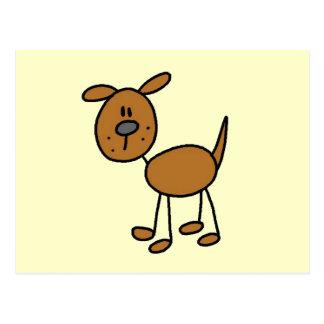 Figura camisetas y regalos del palillo del perro postal