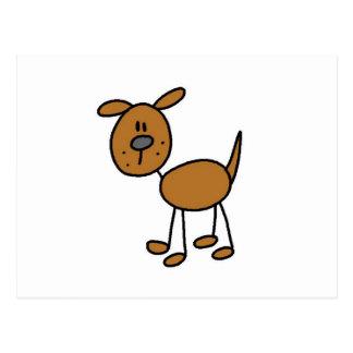 Figura camisetas y regalos del palillo del perro tarjeta postal