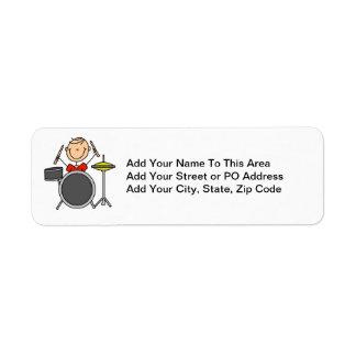 Figura camisetas y regalos masculinos del palillo etiqueta de remite