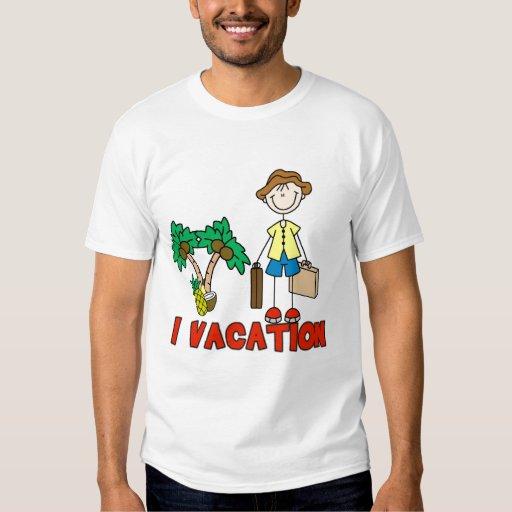 Figura camisetas y regalos Vacationing del palillo Playera