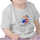 Figura casera agradable bebé del palillo del papá camisetas