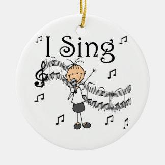 Figura chica del palillo canto las camisetas y los ornamento de navidad