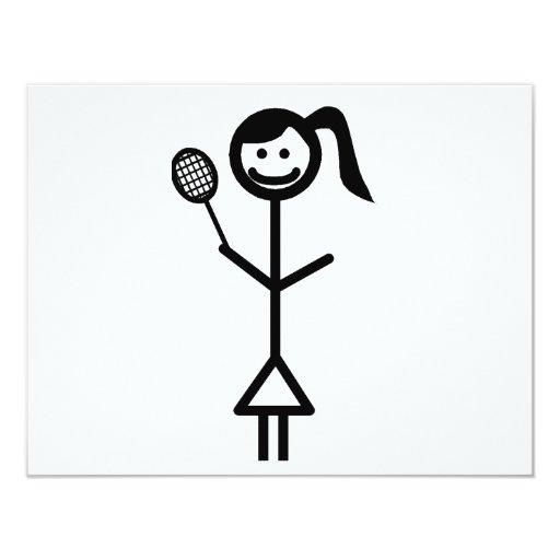 """Figura chica del palillo invitación 4.25"""" x 5.5"""""""