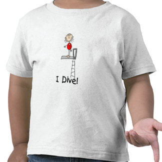 Figura chica del palillo me zambullo camisetas