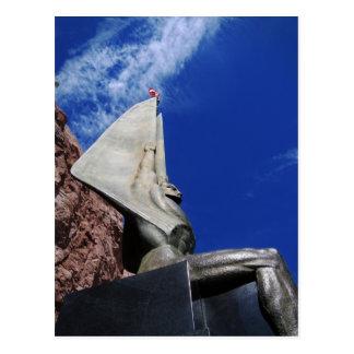 Figura coa alas de la república 1255 postales
