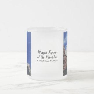Figura coa alas de la república 1255 taza de café esmerilada