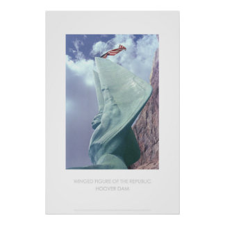 Figura coa alas de la república póster