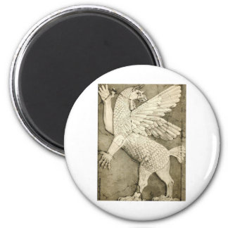 Figura coa alas mitológica imán redondo 5 cm
